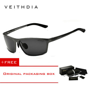VEITHDIA Brand Polarized Aluminum Magnesium Wrap Men's Sun glasses Male Sport Outdoor Sunglasses Mirror Eyewear For Men 6520 (Gery) [ Buy 1 Get 1 Freebie ] Price Philippines