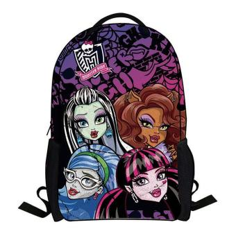 Cartoon monster high backpack children schoolbag school student book bag boys kids girls bags school bag - intl Price Philippines