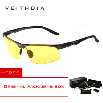 VEITHDIA Aluminum Magnesium Polarized Sunglasses Men Sports Sun glasses Night Driving Mirror Male Eyewear Accessories Goggle Oculos 6502( Yellow) - Intl [ Buy 1 Get 1 Freebie ] - intl Price Philippines