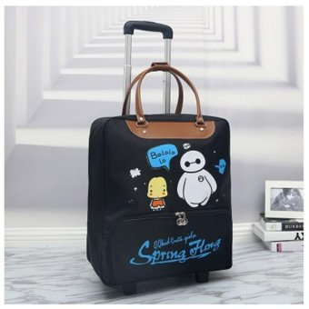 Harga New fathion Large Capacity Duffel Travel Bag With Trolley - intl