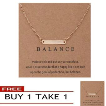 BALANCE pendant necklace gold dipped Price Philippines