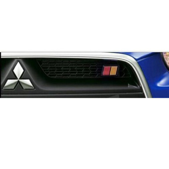 UJS Car Decals Front Grille Car Emblem Badge For Lancer RALLIART Evolution Mitsubishi Price Philippines