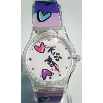Harga Geneva Teen & Kids Collection Artworks Kiss Me Analog Quartz Watch