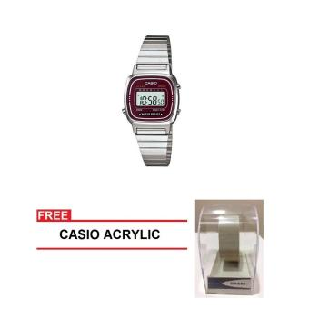 Casio Classic Series Women Silver Stainless Steel StrapWatch LA670WA-4DF (FREE CASIO ACRYLIC) Price Philippines