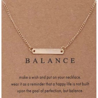 BALANCE pendant necklace gold dipped 06 grams Price Philippines