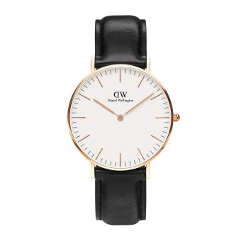 Daniel Wellington Classic Sheffield Women's Black Leather Strap Watch Price Philippines