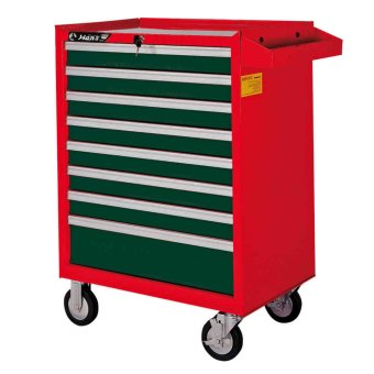 Harga Hans Tools 9918HQ 8 Drawer Tool Trolley (Green/Red)