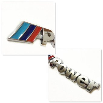 UJS for BMW Power M emblem badge sticker car trunk metal decal M-Power M3 M5 M6 (Intl) Price Philippines