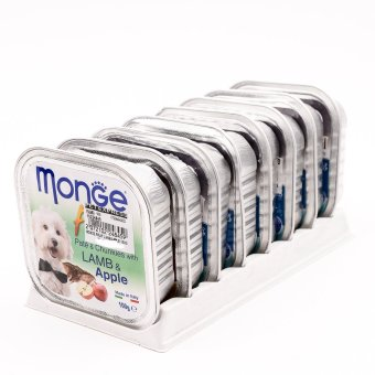 Harga Monge Fruit Lamb/Apple Wet Dog Food 100g ( 8 pcs / tray)