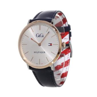 Harga Tommy Hilfiger Watch Gigi Hadid Blue Stainless-Steel Case Leather Strap Ladies NWT + Warranty 1781748