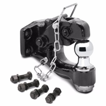 BowmanPro 4x4 Pintle Hook with 2\ Chrome Ball 8 Tons""