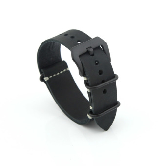 Leather Replacement Watch Band Strap Belt 22mm For Man or Woman (Black) Price Philippines