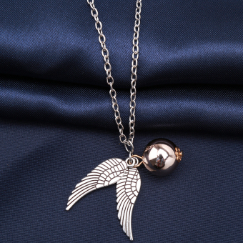 Harga Hanyu Harry Potter Golden Snitch Quicksilver Golden Pearl Necklace