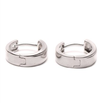 Jewelrista Plain Silver Hoop Earrings (White Gold) Price Philippines