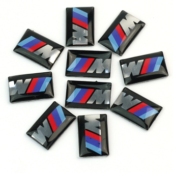 10pcs Self-Adhesive M Tec Sport BADGE STICKER EMBLEM fits BMW M3 M5 M6 Wheel New - Intl Price Philippines