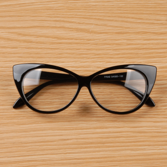 Cyber Cat Eyes Shape Flat Eyeglasses (Black) Price Philippines