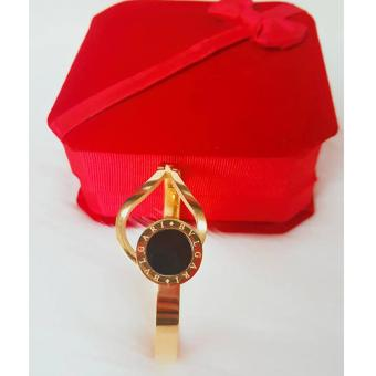 Harga Valentino Collection Bvlgari inspired Bangle gold&black
