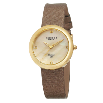 Harga Akribos XXIV Women's AK687YG Leather Strap , Swiss Quartz Watch