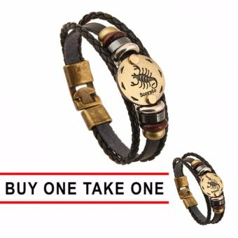 GMY Buy One Take One Men and Women Zodiac Sign Leather Bracelet (Scorpio) Price Philippines