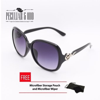 Oversized Sunglasses with Metallic Floral Concept-Black Price Philippines
