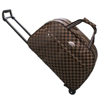 Harga Large Capacity Duffel Travel Bag With Trolley High quality Suitcases Luggage - intl