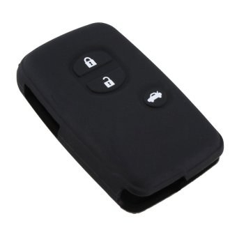 UJS NEW Black Silicone Car Remote Fob Key Case Cover For Toyota Land Cruiser Prado(2010) (Intl) Price Philippines