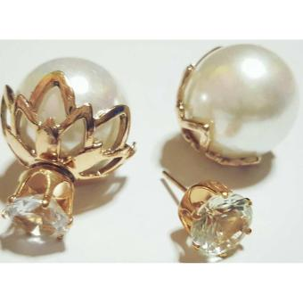 Harga Sabrina Lovely Pearl Earrings Rose Gold Plated