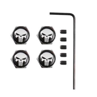Allwin 4Pcs Stylish Universal Skull Head Wheel Tire Valve Caps Wheel Valve Caps