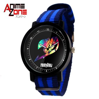 ANIME ZONE Fairy Tail Emblem Galaxy Trendy Nylon Strap Anime Watch (Blue/ Black) Price Philippines