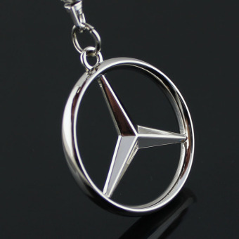 Keychain Metal Zinc Alloy Key Ring with Car Key Chain 3D Emblems of BENZ Car Logo - intl Price Philippines