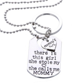 "New Fashion Jewelry mommy Daughter Necklace ""There's This Girl She Stole My Heart She Calls Me Mommy"" mother's Day Gifts - intl Price Philippines"