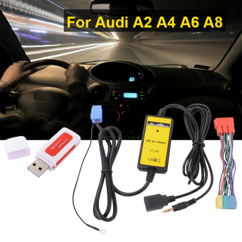 USB AUX Adapter Car Audio Interface Digital CD Changer for Audi A2 AllRoad AC471 - Intl Price Philippines