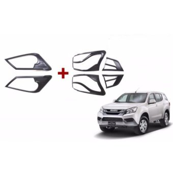 Harga Isuzu MUX (2 Sets) Headlight and Tailight Cover Matte Black Protector