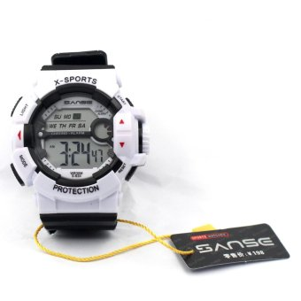 Sanse Water Resistant Uni-sex Watch TPU resin Strap-634 White Price Philippines