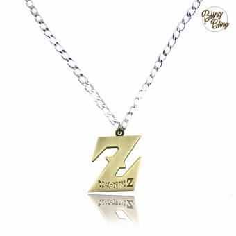 Harga Bling Bling Dragon Ball Z Fashionable Pendant Necklace (Silver/ Gold)