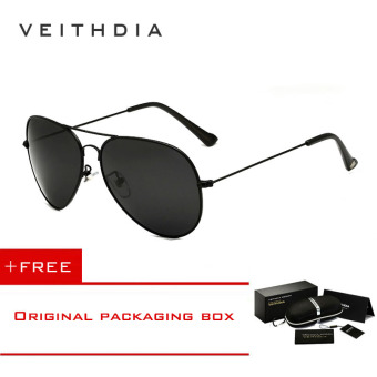 VEITHDIA Brand Classic Fashion Polarized Sunglasses Men/Women Colorful Reflective Coating Lens Eyewear Accessories Sun Glasses 3026(Black) [ Buy 1 Get 1 Freebie ] Price Philippines