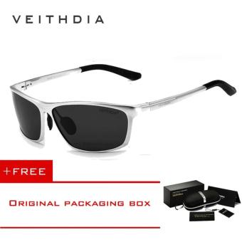 VEITHDIA Brand Polarized Aluminum Magnesium Wrap Men's Sun glasses Male Sport Outdoor Sunglasses Mirror Eyewear For Men 6520 (Silver) [ Buy 1 Get 1 Freebie ] - intl Price Philippines