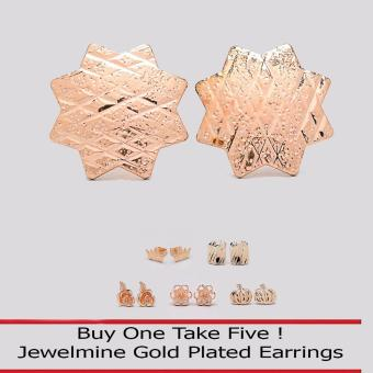 Jewelmine Star 18k Gold Plated Earrings (Buy One Take Five) Price Philippines