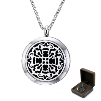 Essential Oil Diffuser Necklace And Pendant Locket Gorgeous Aromatherapy Diffuser Jewelry Gift Set With 20 Inch Chain BONUS 12 Diffuser Refills Carve Pattern Price Philippines