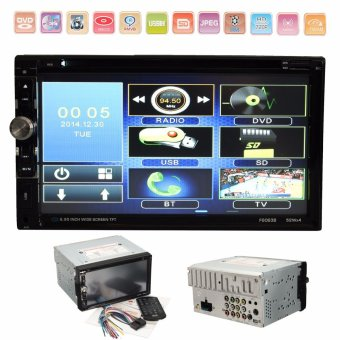 Harga 2016 Brand New 7 Inch 2 Din HD In dash Car stereo DVD CD Player FM/AM Radio Touch Screen HD With TFT Panel - intl