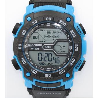 Sanse Water Resistant Uni-sex Watch TPU resin Strap-628L/Blue Price Philippines