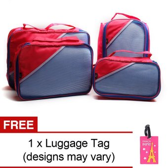 Le Organize 4-in-1 Luggage Organizer with Free Luggage Tag (Pink) Price Philippines