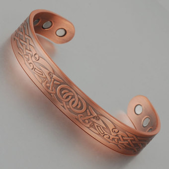Copper Bangle Healing Balance Bio Magnetic Pure Copper Cuff Bracelet Bangles For Mens Women - Intl Price Philippines