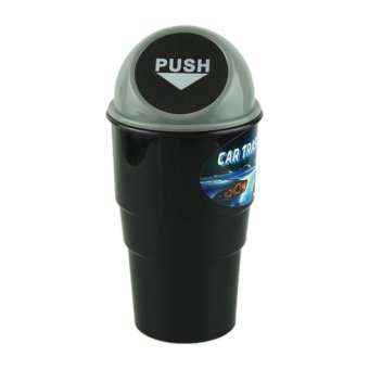Harga NEW car garbage can Car Trash Can Garbage Dust Case Holder Bin Black - intl