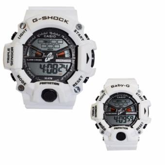 Casio Couple Sports Triple Sensor Watch (White) Price Philippines