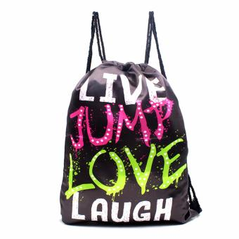 Harga Urban Hikers Waterproof Summer Travel Drawstring Backpack (Live Jump Love Laugh)