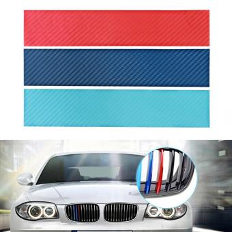 3Pcs/Set Carbon Fiber front Grill Stripes Decals M Power Sport Stickers for BMW M3 M5 M6 E46 E39 E60 E90 Price Philippines