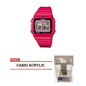 Casio Standard Series Women Pink Resin StrapWatch W-215H-4AVDF (FREE CASIO ACRYLIC) Price Philippines