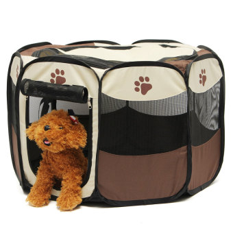 Harga Pet Home Fence Dog Bed Kennel Play Pen Puppy Soft Playpen ExerciseRun Cage Folding Crate - intl