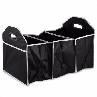 Car Trunk Organizer Folding Non Slip Bottom Storage Container For Car/SUV/Cargo/Van/Truck - intl